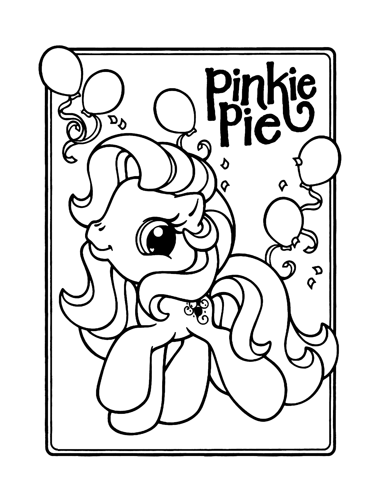 Pinkie Pie Coloring Page : pinkie, coloring, School, Little, Pinkie, Coloring, Coloring.rocks!