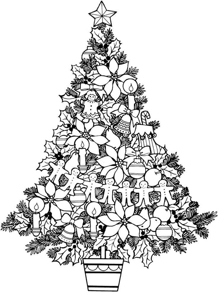 Christmas Tree Coloring Pages Coloring Rocks