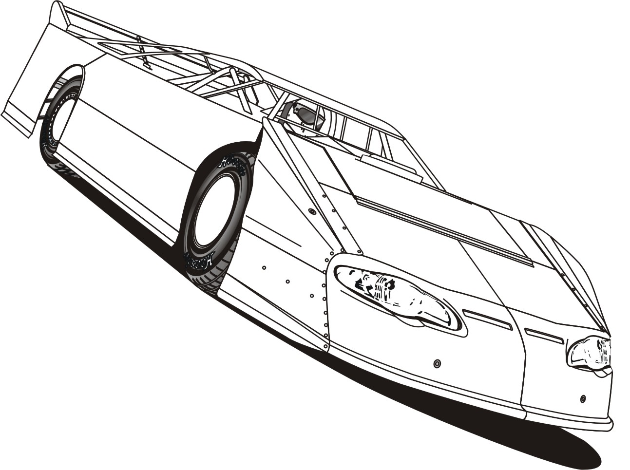 Race Car Coloring Pages