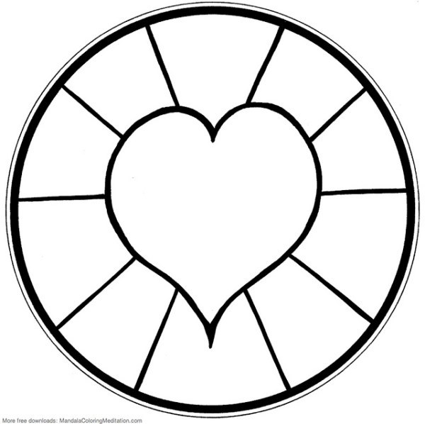 easy mandala coloring pages # 69