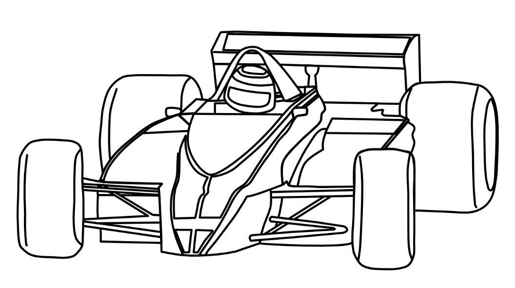 Race Car Coloring Pages ⋆ coloring.rocks!