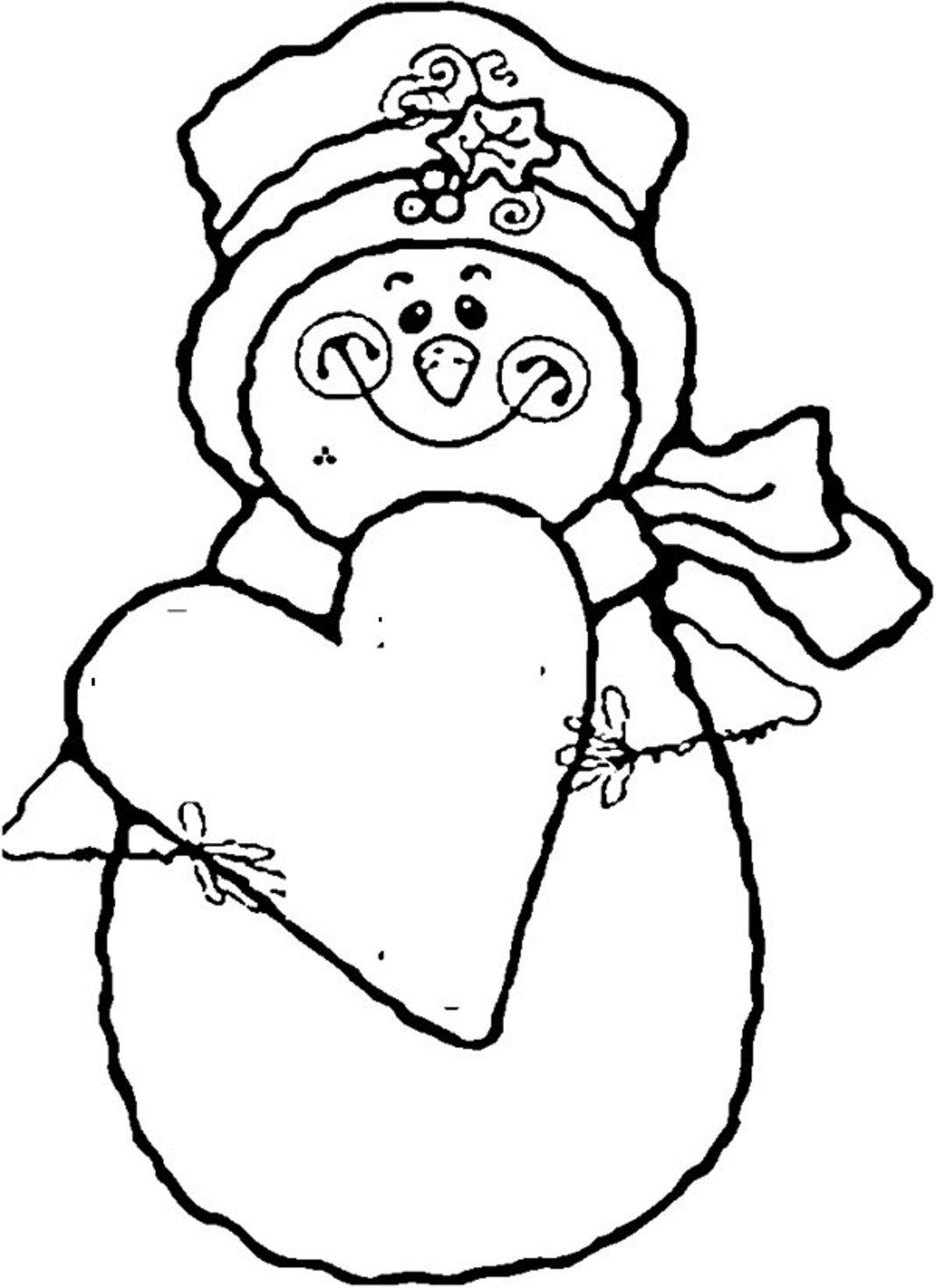 Snowman Coloring Pages Coloringcks
