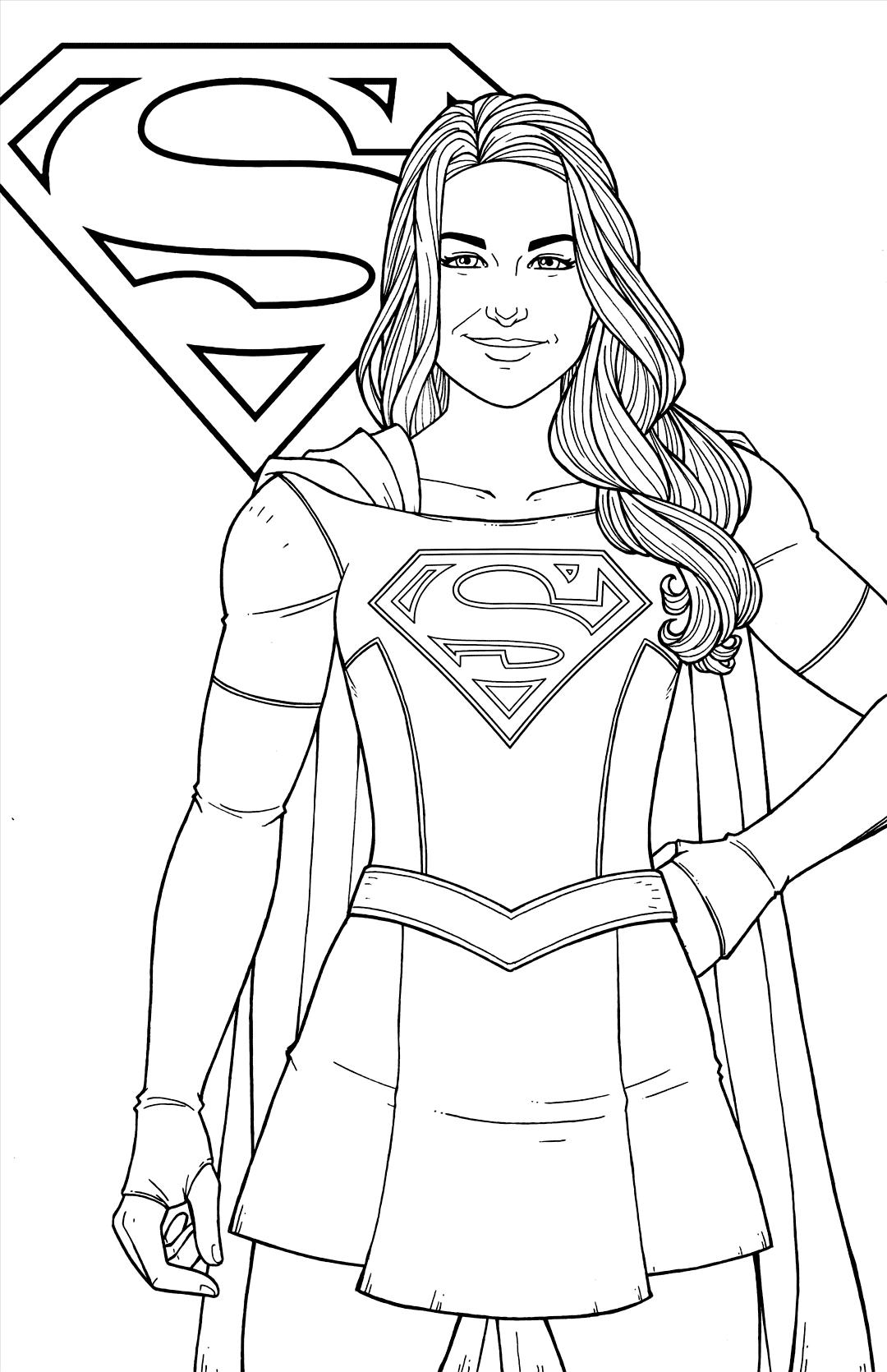 Supergirl Coloring Pages : supergirl, coloring, pages, Supergirl, Coloring, Pages, Coloring.rocks!