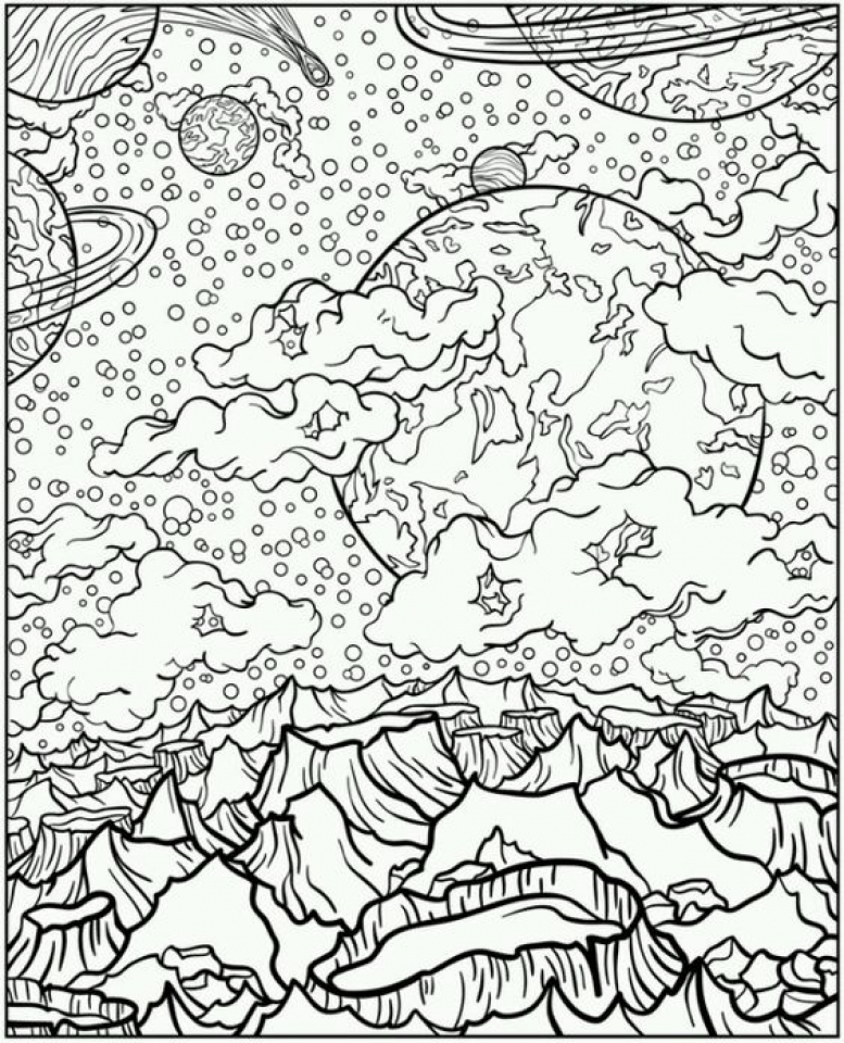 Solar System Coloring Pages Coloring Rocks