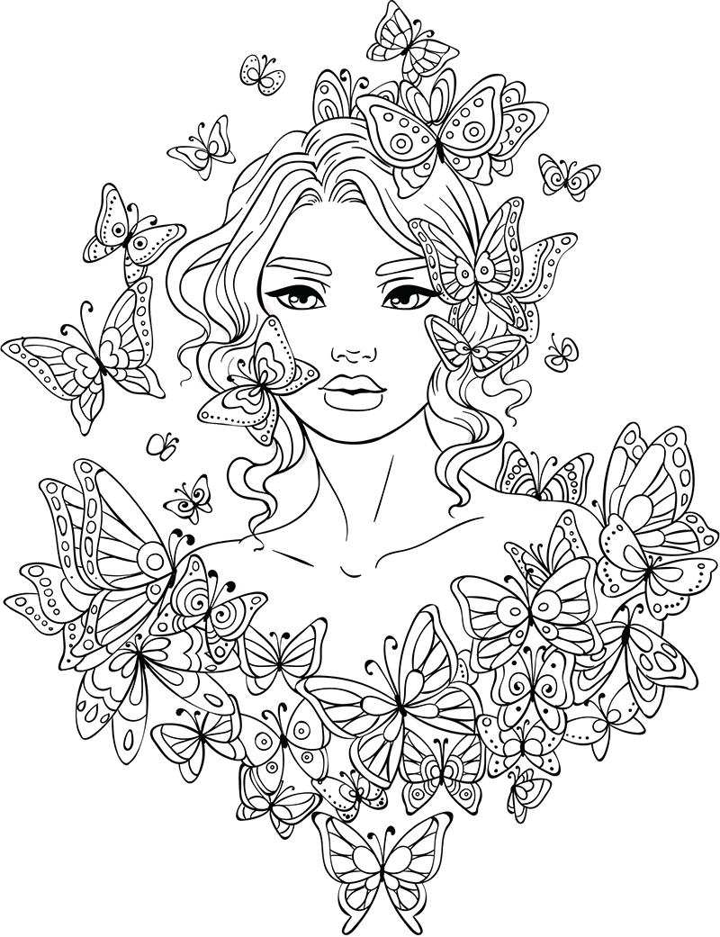 Coloring Pages For Girls Hard : coloring, pages, girls, Coloring, Pages, Teens, Coloring.rocks!