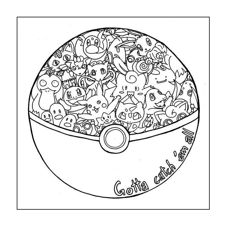 pokeball printable coloring pages