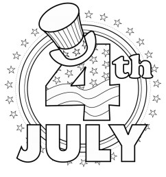 Fourth of July Coloring Pages [ 1200 x 1200 Pixel ]