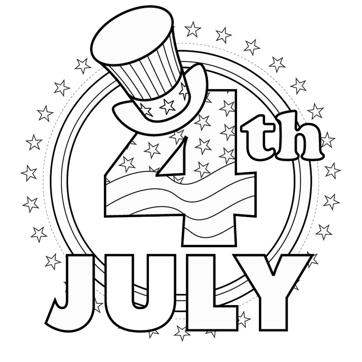 hight resolution of Fourth of July Coloring Pages
