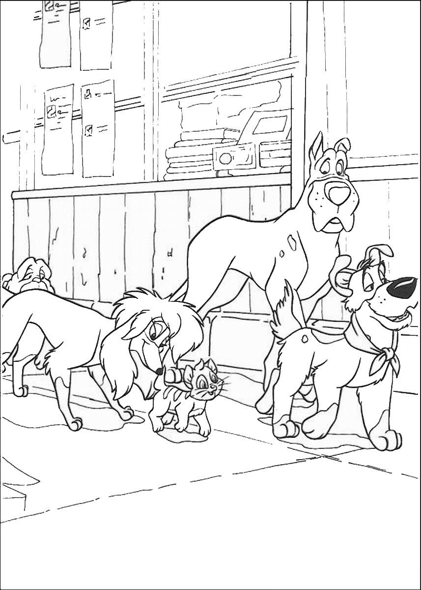 Oliver and Company Coloring Pages