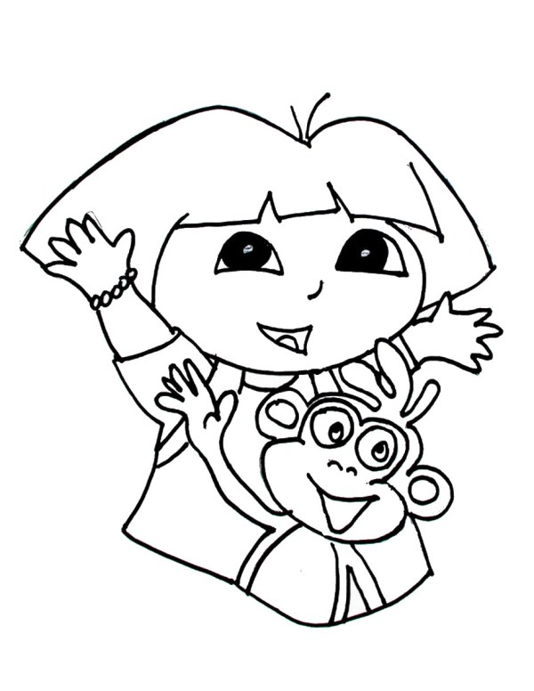 dora coloring pages printable # 65