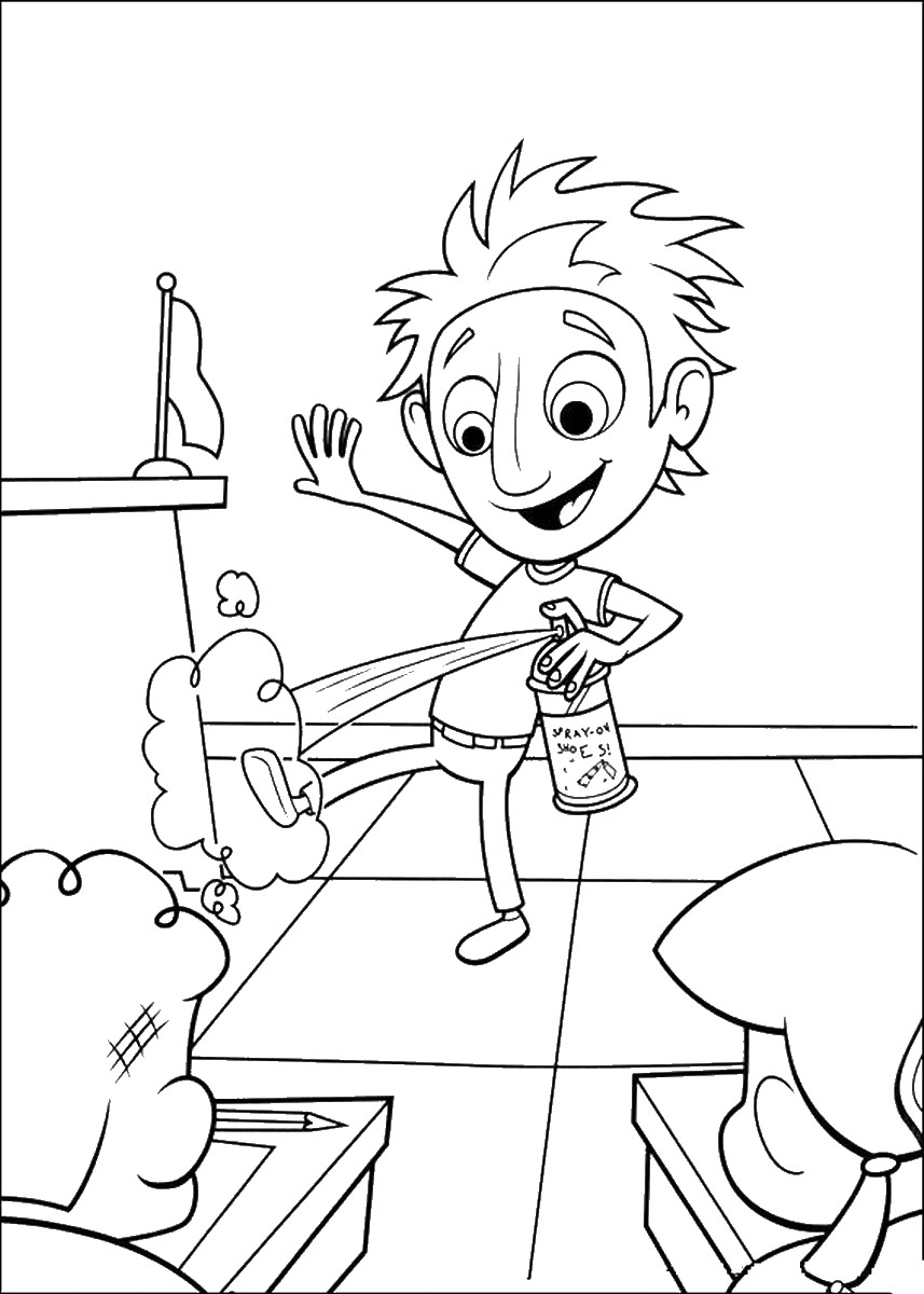 Cloudy with a Chance of Meatballs Coloring Pages