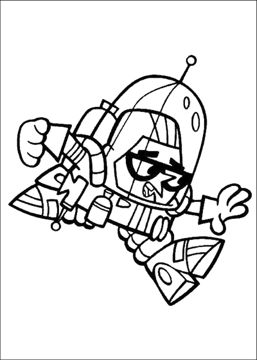 Dexter Laboratory Coloring Pages