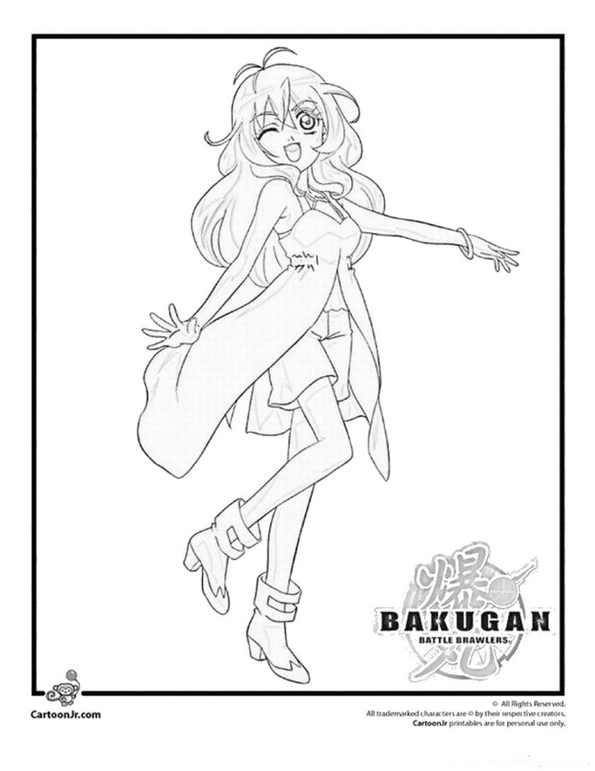 bakugan coloring pages