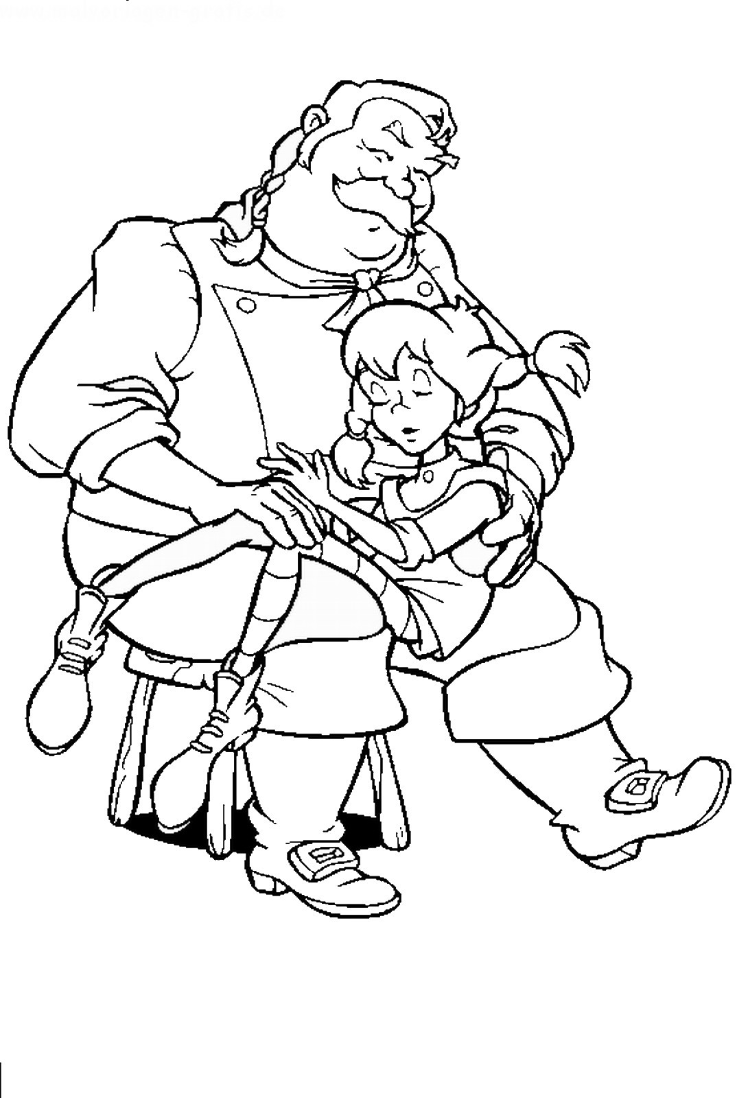 Pippi Longstocking Coloring Pages