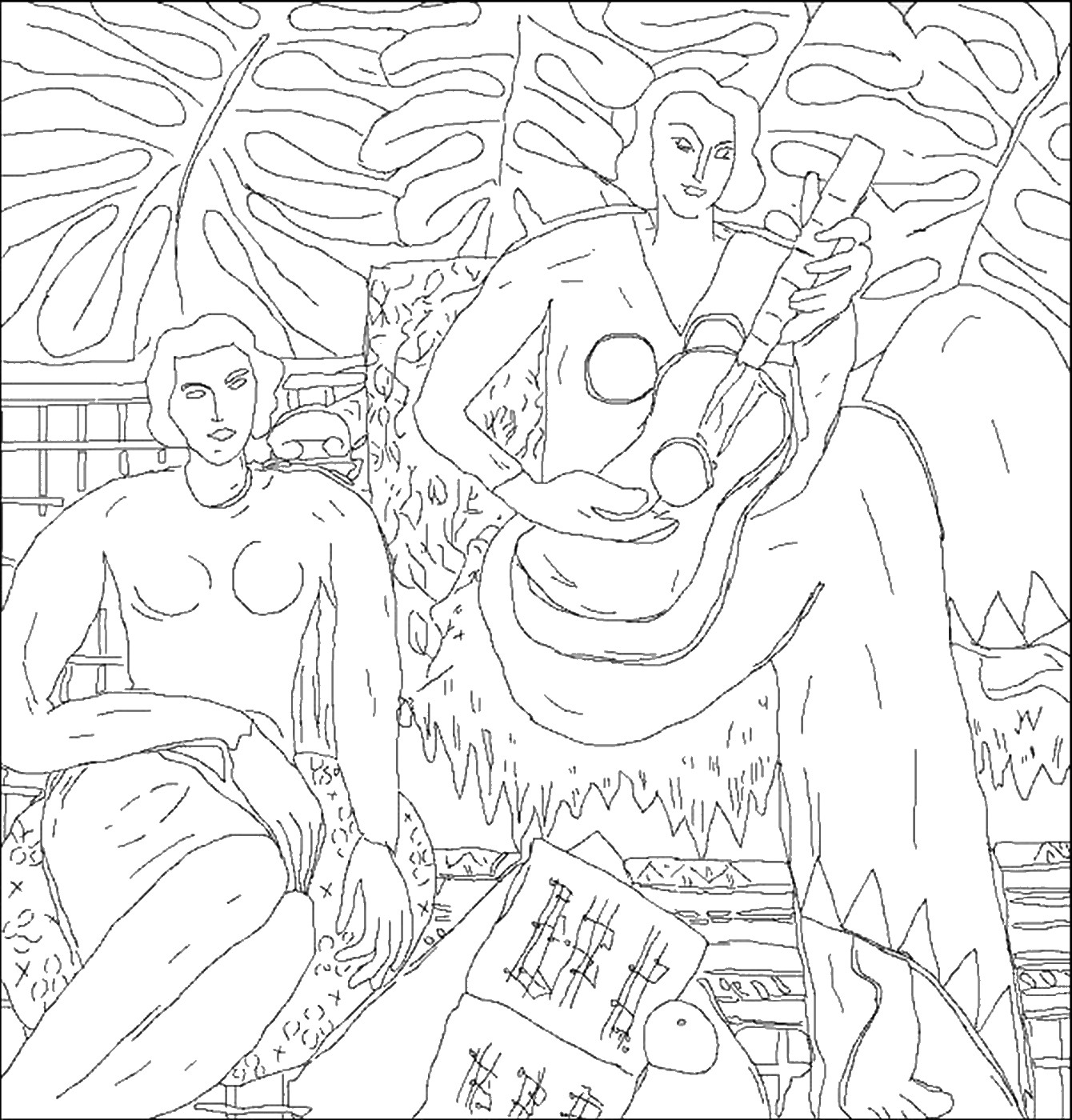 Famous Painters And Paintings Coloring Pages