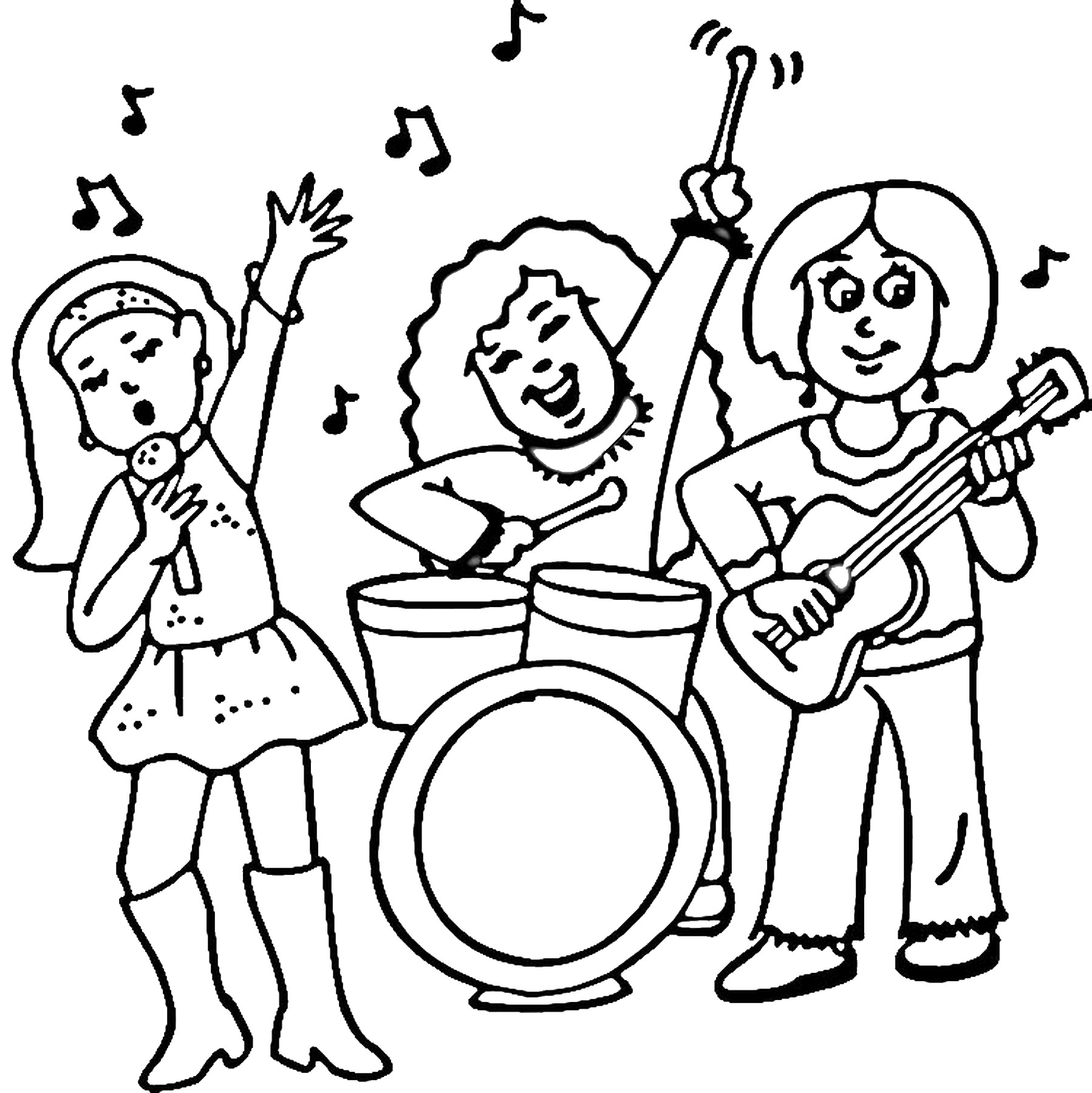 Rock Star Coloring Pages
