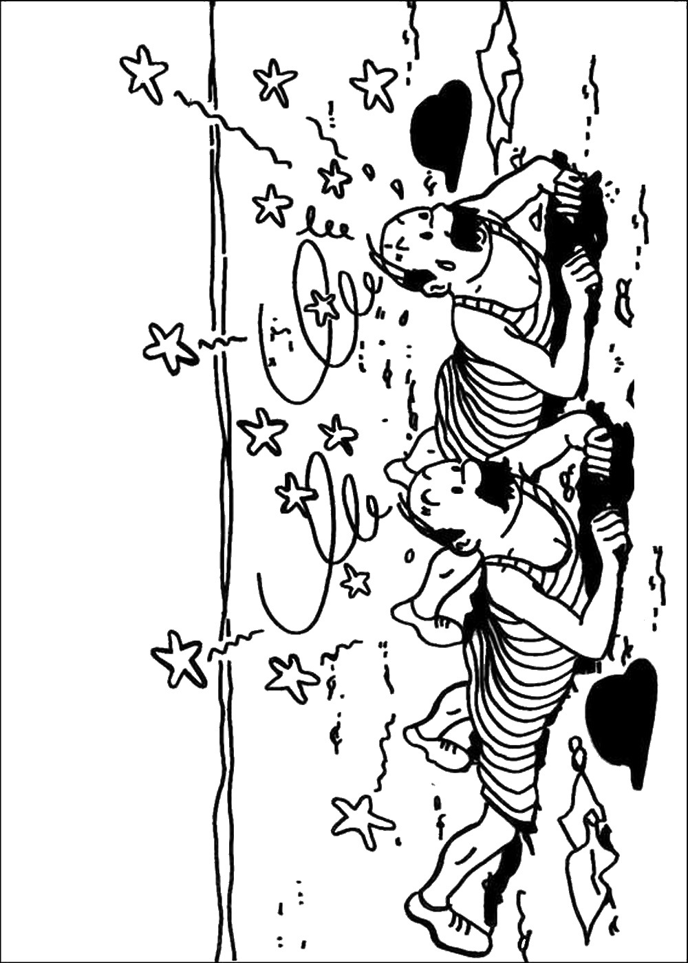 The Adventures Of Tintin Coloring Pages