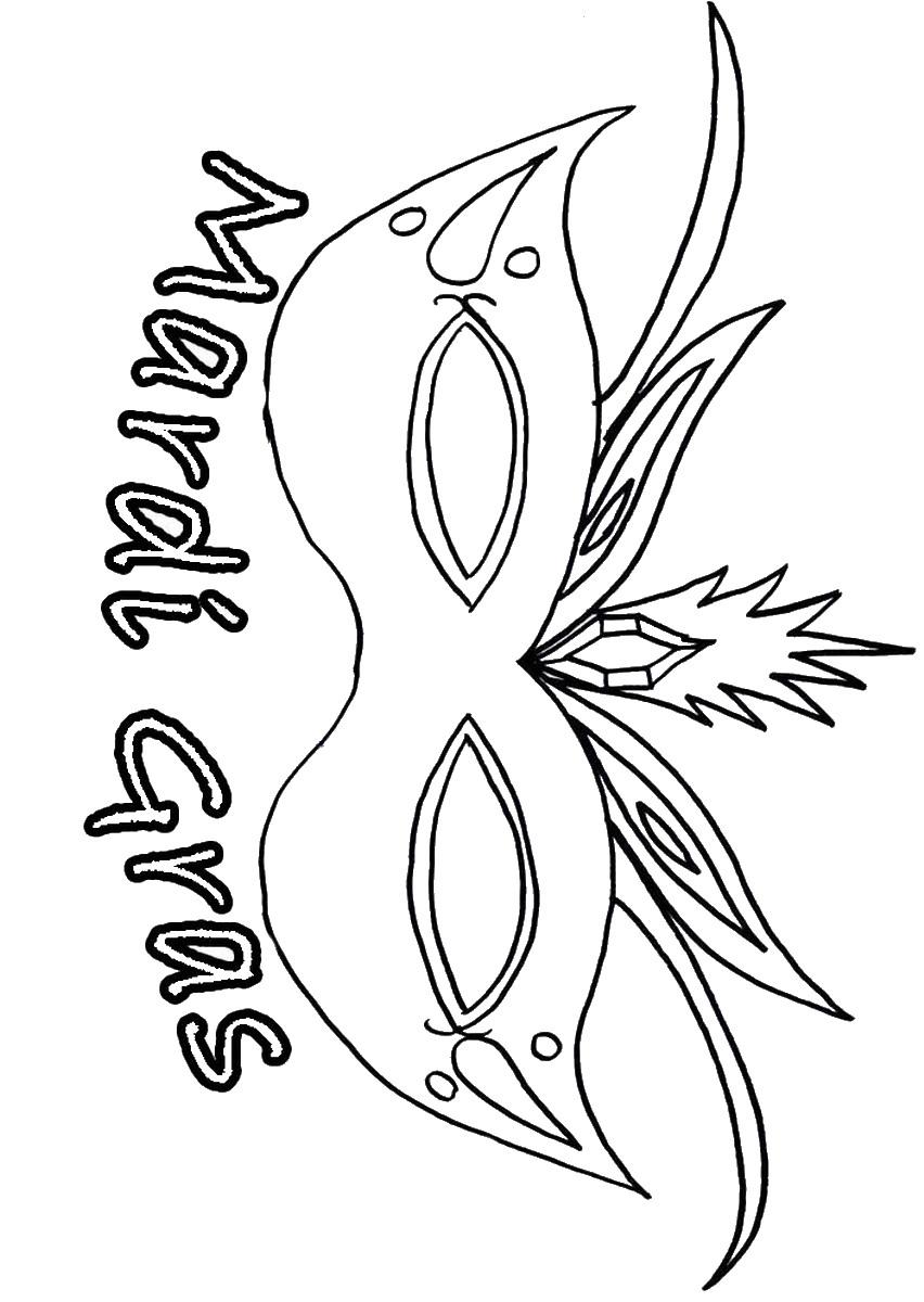Coloring Gra Mardi Page Mask Template Printable Sketch