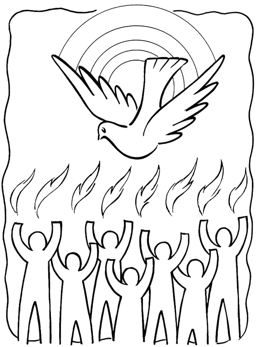 Pentecost Coloring Pages