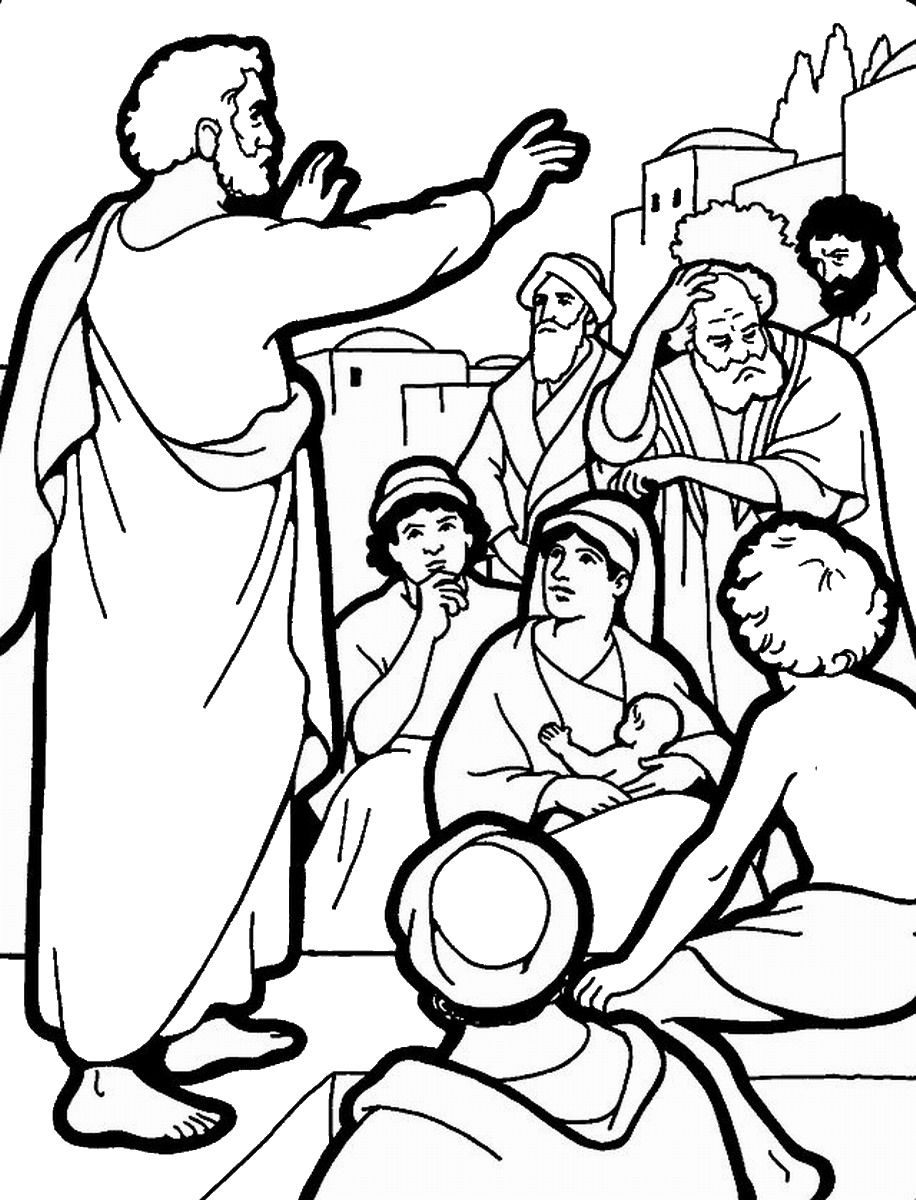 Pentecost Coloring Pages For Preschoolers Sketch Coloring Page