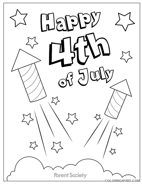 4th Of July Coloring Pages For Kids Coloring4free Coloring4free Com