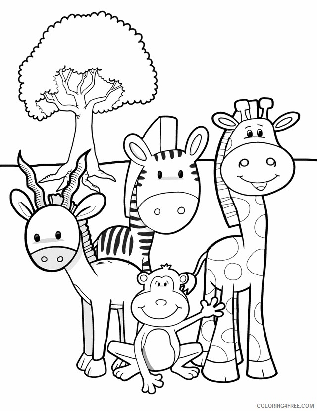Baby Animals Coloring Pages Coloring4free Coloring4free Com