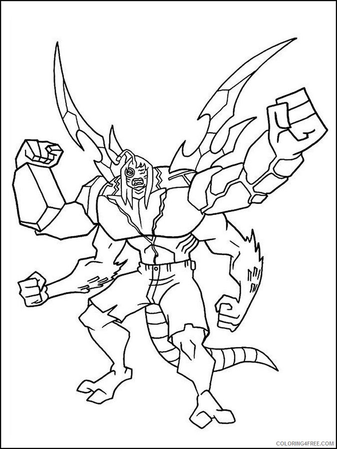 Coloring and Drawing: Ben 10 Kevin 11 Coloring Pages