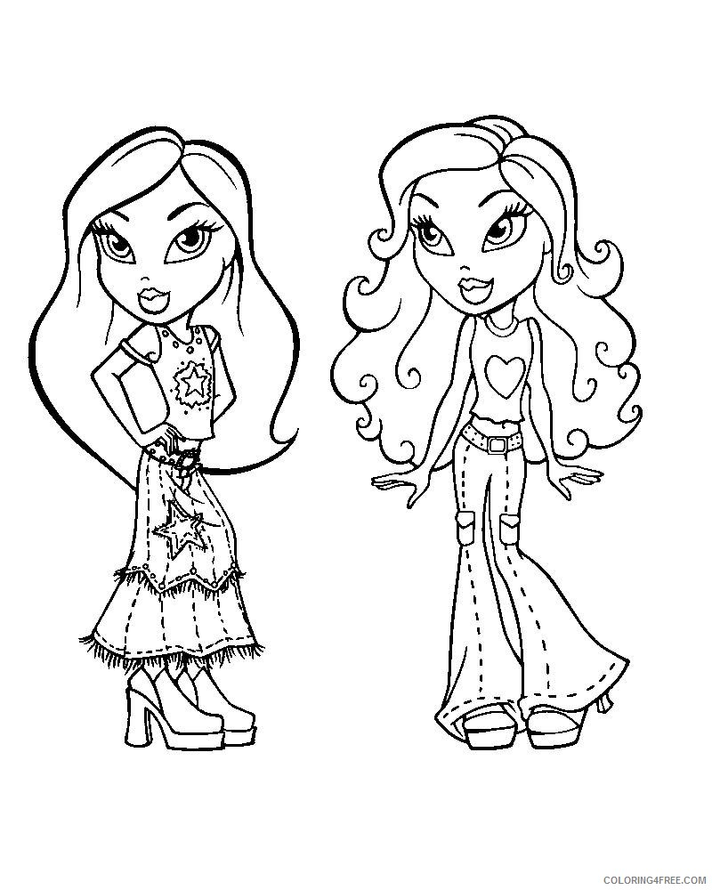 Bratz Coloring Pages Jade And Sasha Coloring4free Coloring4free Com