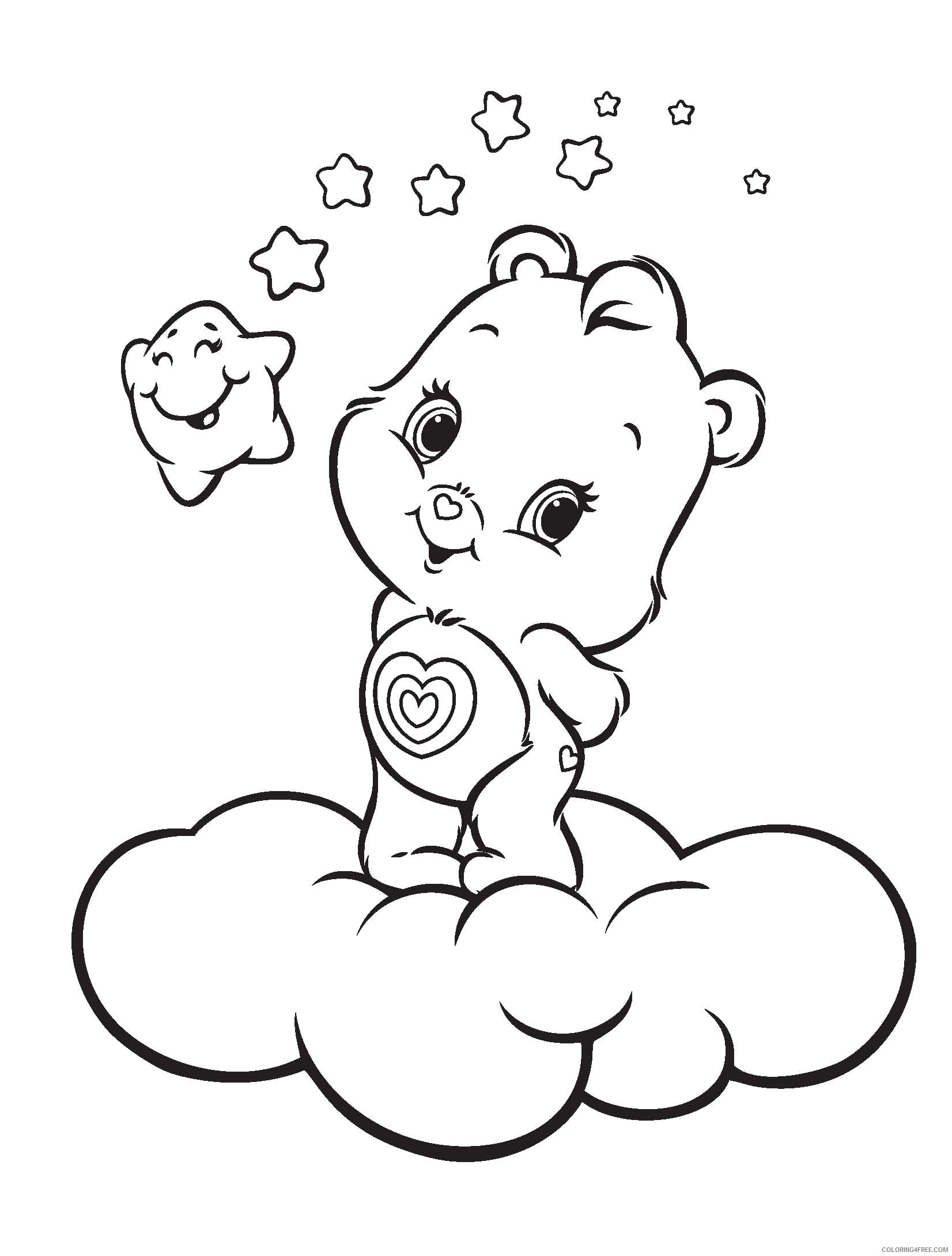 care bears coloring pages wonderheart bear Coloring4free