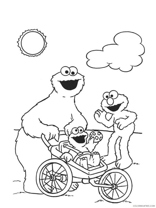 cookie monster coloring pages and friends Coloring24free