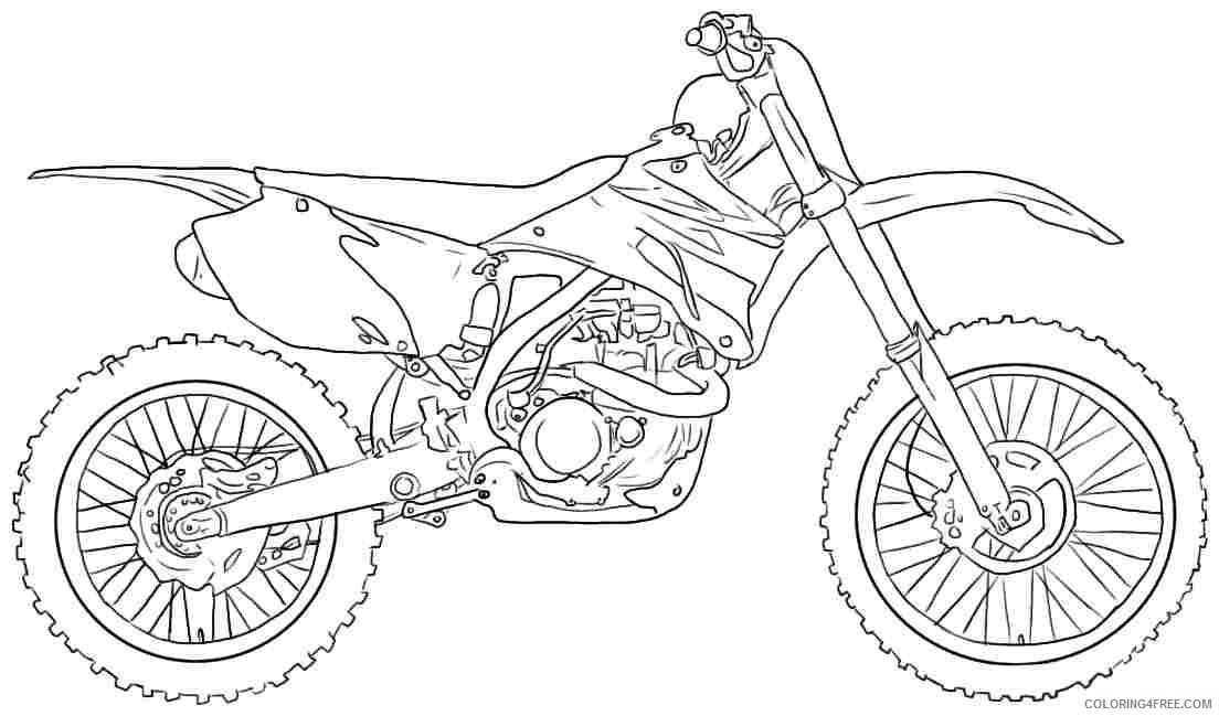 yamaha dirt bike coloring pages Coloring4free
