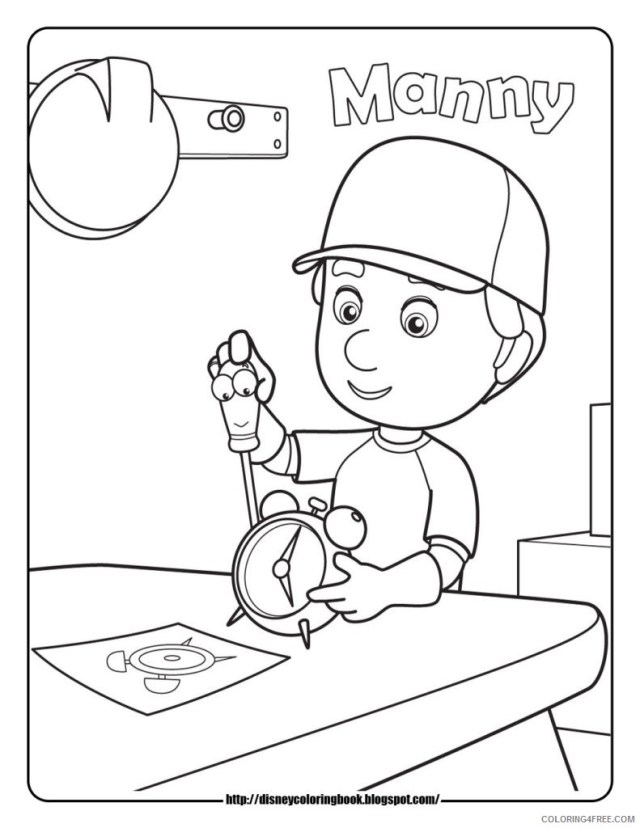disney junior coloring pages handy manny Coloring18free