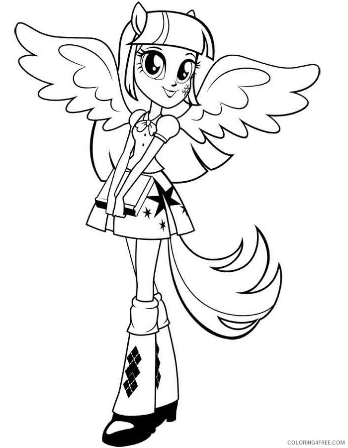 Twilight Sparkle Coloring Pages : twilight, sparkle, coloring, pages, Equestria, Girls, Twilight, Sparkle, Coloring, Pages, Coloring4free, Coloring4Free.com