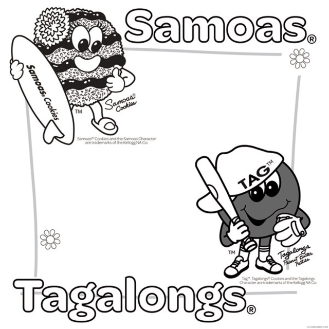 girl scout coloring pages samoas and tagalongs Coloring29free