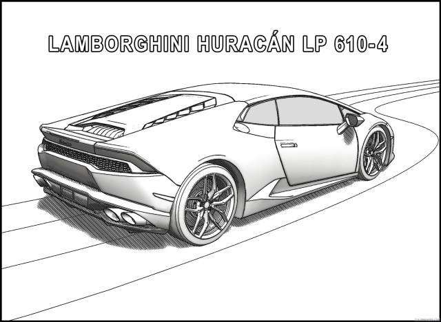lamborghini huracan coloring pages side view Coloring15free