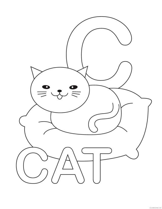 letter coloring pages c for cat Coloring17free - Coloring17Free.com
