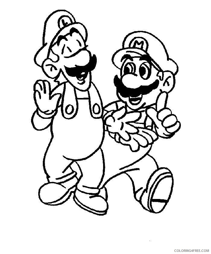 Mario And Luigi Coloring Pages To Print Coloring4free Coloring4free Com