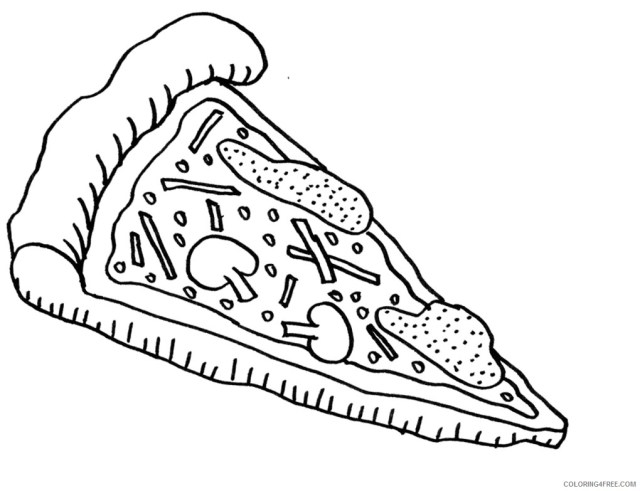 pizza slice coloring pages to print Coloring18free - Coloring18Free.com