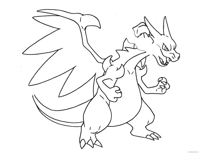 pokemon coloring pages mega charizard x Coloring18free