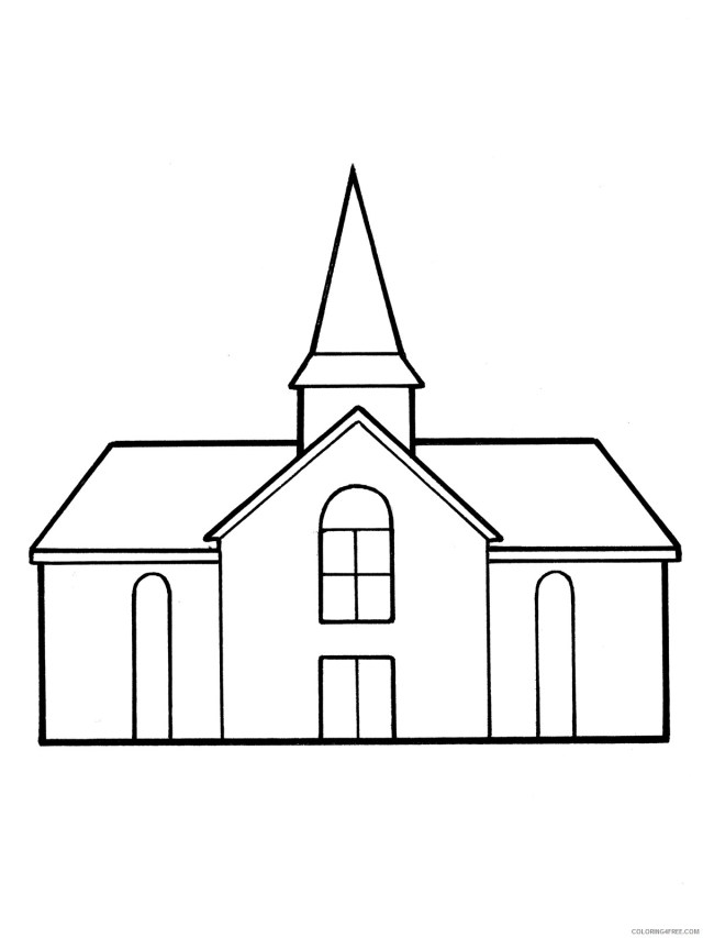printable church coloring pages for kids Coloring24free