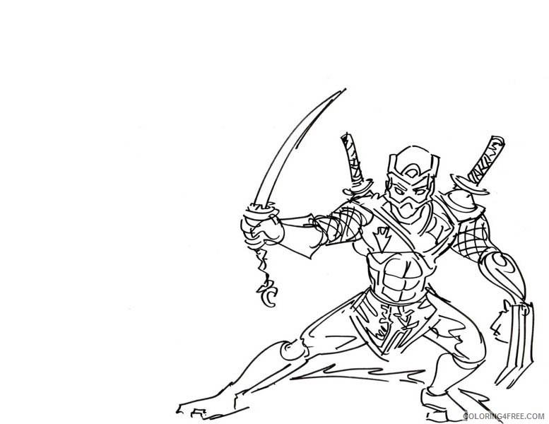 Printable Ninja Coloring Pages Coloring4free Coloring4free Com