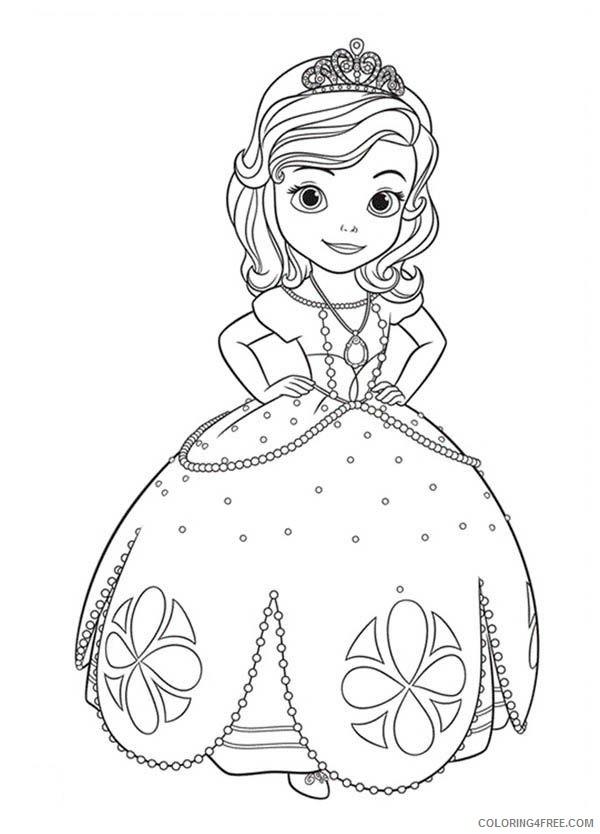 Printable Princess Pictures : printable, princess, pictures, Printable, Princess, Sofia, Coloring, Pages, Coloring4free, Coloring4Free.com