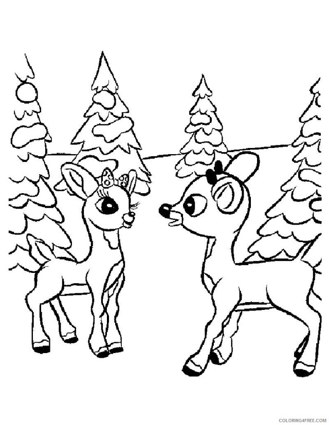 rudolph the red nosed reindeer coloring pages with mom and dad
