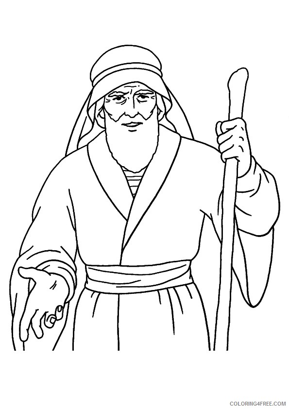 moses coloring pages parting the red sea Coloring4free