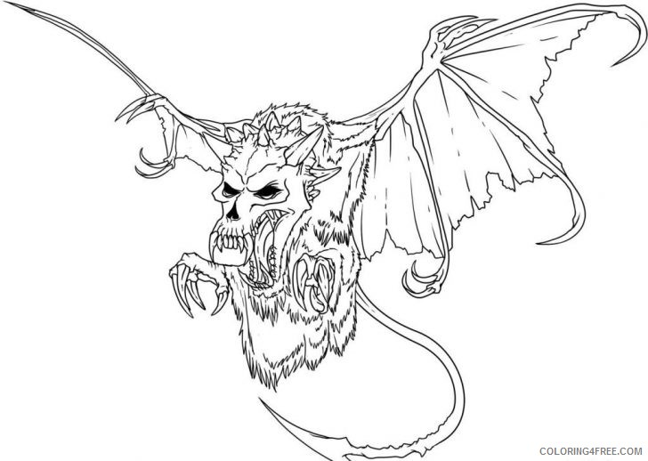 Scary Monster Coloring Pages Coloring4free Coloring4free Com