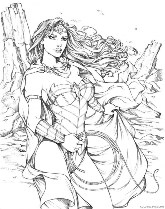 wonder woman coloring pages for adults Coloring27free