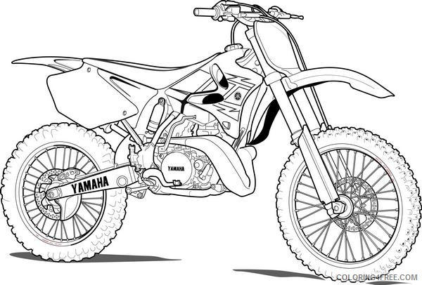 yamaha dirt bike coloring pages Coloring4free