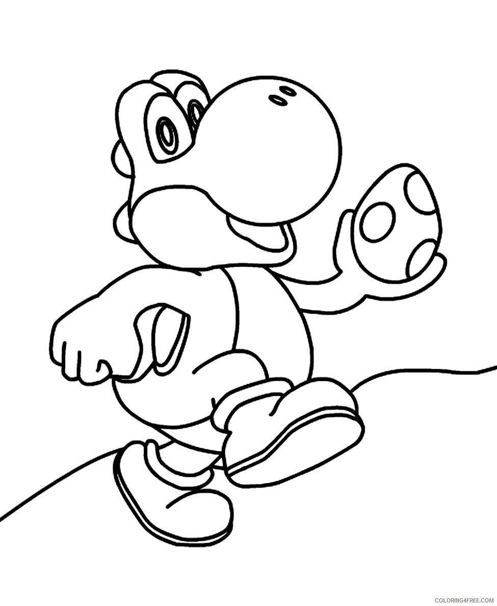 Yoshi Coloring Pages : yoshi, coloring, pages, Yoshi, Coloring, Pages, Coloring4free, Coloring4Free.com