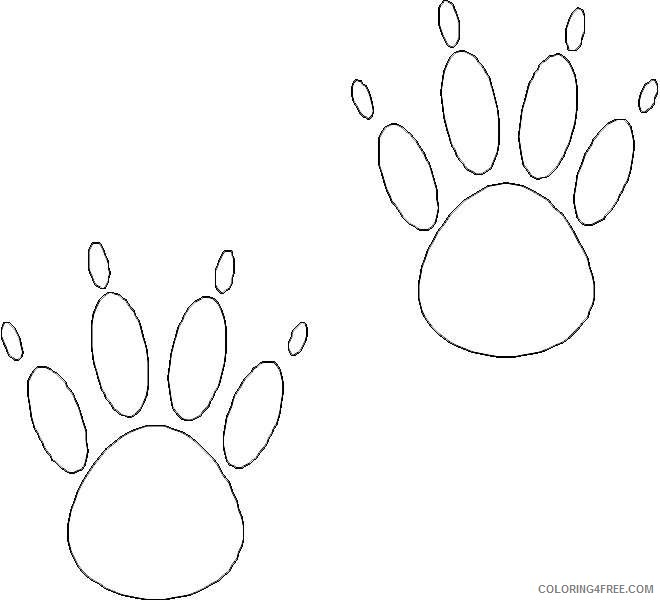 Bear Paw Coloring Coloring Pages