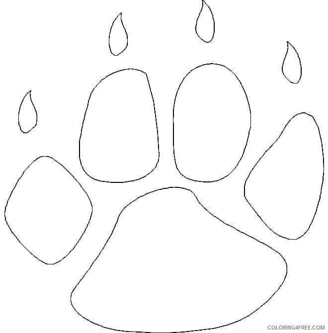 Bear Paw Print Coloring Page Sketch Coloring Page